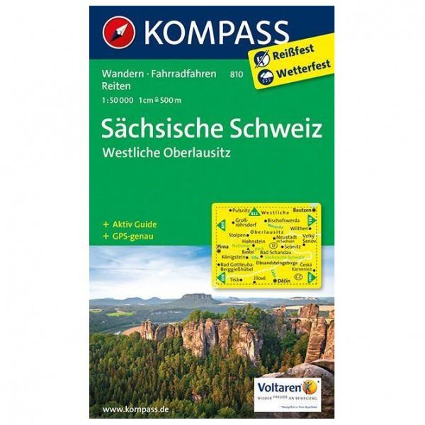 Kompass - Sächsische Schweiz - Westliche Oberlausitz - Wandelkaarten