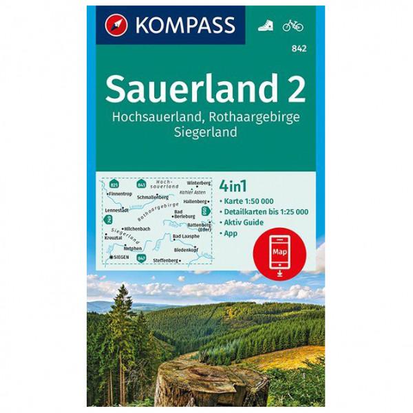 Kompass - Sauerland 2, Hochsauerland, Rothaargebirge - Turkart
