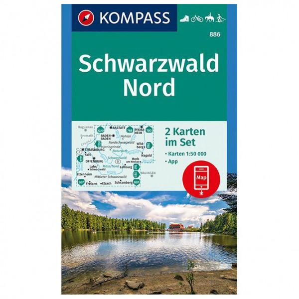Kompass - Schwarzwald Nord - Wandelkaart