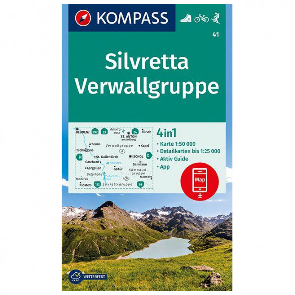 Kompass - Silvretta, Verwallgruppe - Hiking map