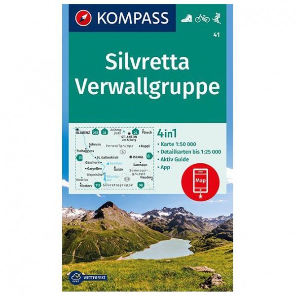 Kompass - Silvretta, Verwallgruppe - Vandrekort