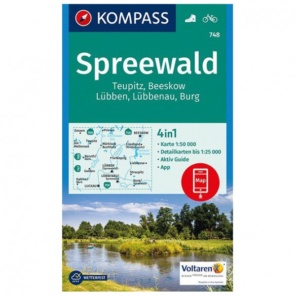 Kompass - Spreewald, Teupitz, Beeskow, Lübben - Hiking map