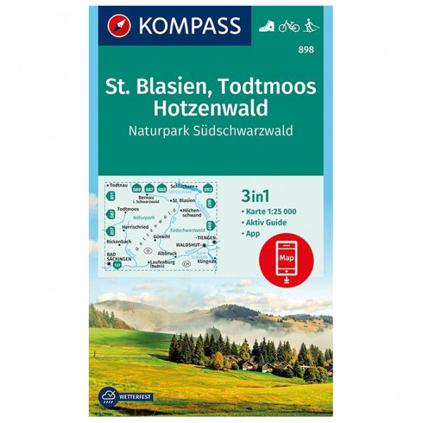 Kompass - St. Blasien, Todtmoos, Hotzenwald - Vandrekort