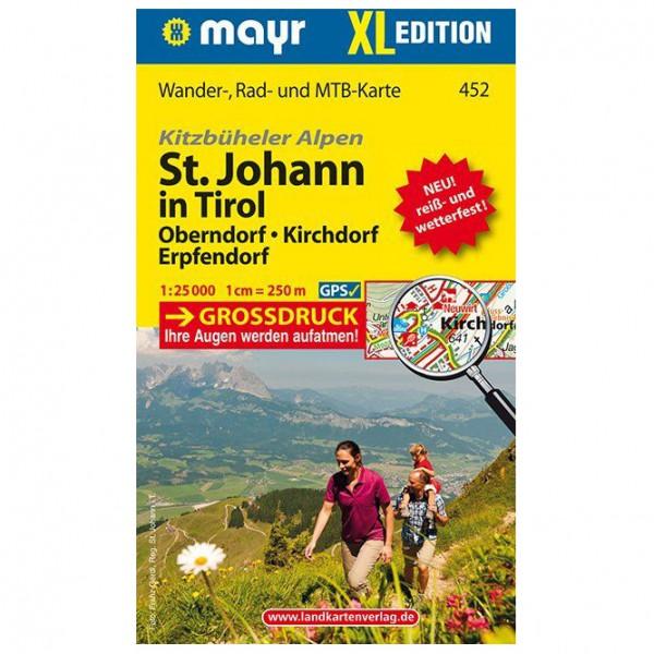 Kompass - St. Johann in Tirol XL - Oberndorf - Kirchdorf - Mapa de senderos