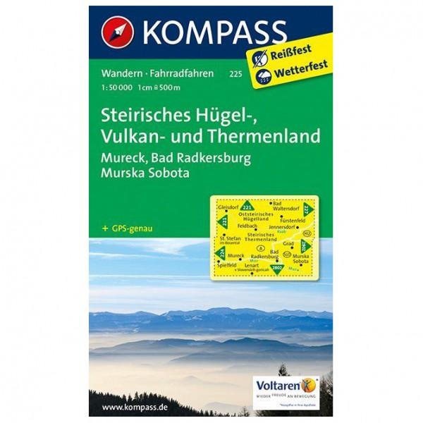 Kompass - Steirisches Hügel-, Vulkan- u. Thermenland - Wanderkarte