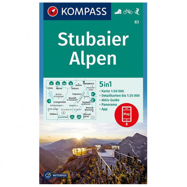 Kompass - Stubaier Alpen - Hiking map