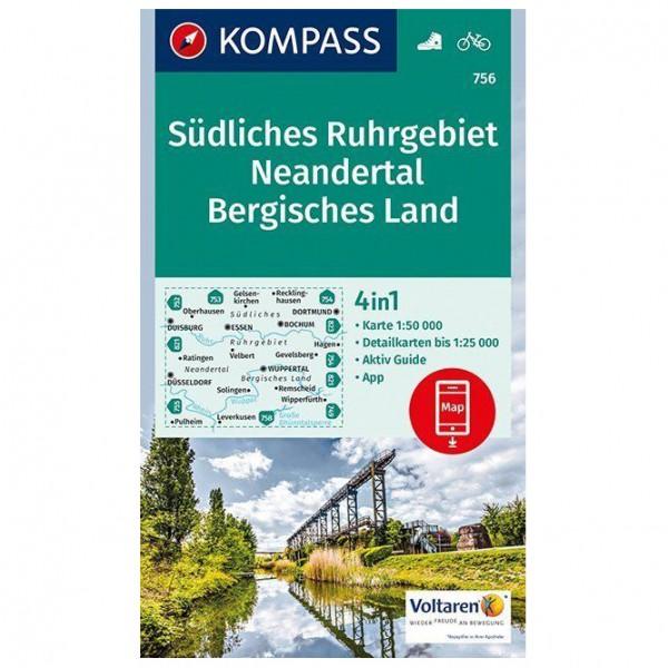 Kompass - Südliches Ruhrgebiet, Neandertal, Bergisches Land - Hiking map