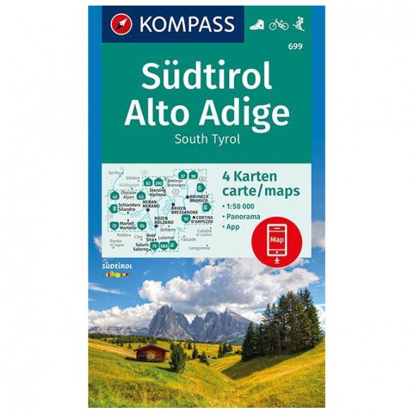 Kompass - Südtirol, Alto Adige, South Tyrol - Vandrekort