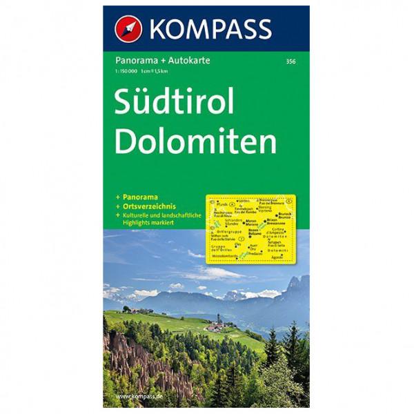 Kompass - Südtirol, Dolomiten Karte - Vandringskartor