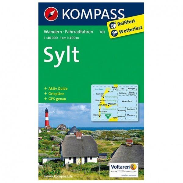 Kompass - Sylt mit allen Ortsplänen - Vaelluskartat