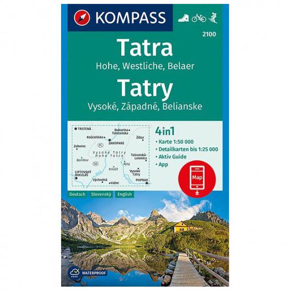 Kompass - Tatra, Hohe, Wesltiche, Belaer, Tatry - Hiking map