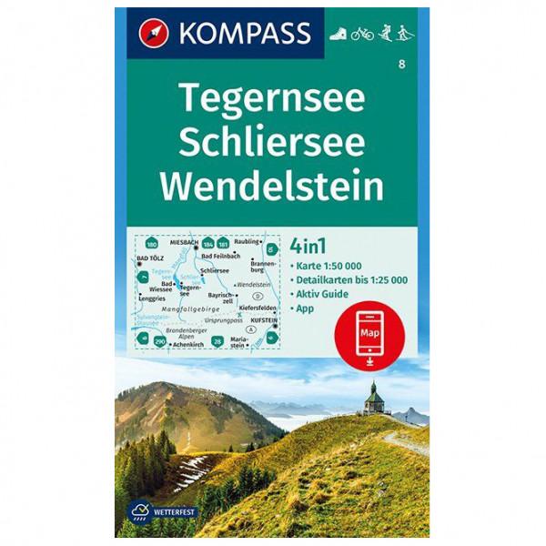Kompass - Tegernsee, Schliersee, Wendelstein - Vandringskartor
