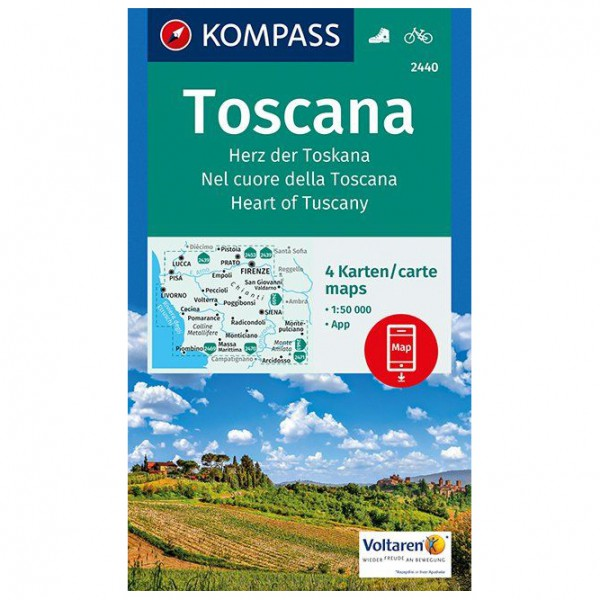 Kompass - Toscana, Herz der Toskana, Nel cuore della Toscana - Mapa de senderos