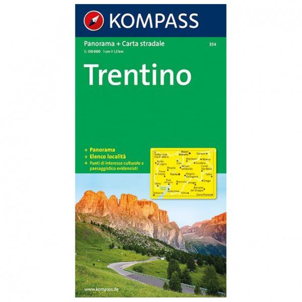 Kompass - Trentino Panorama - Carte de randonnée