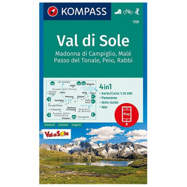 Kompass - Val di Sole, Madonna di Campiglio, Malè - Vandrekort