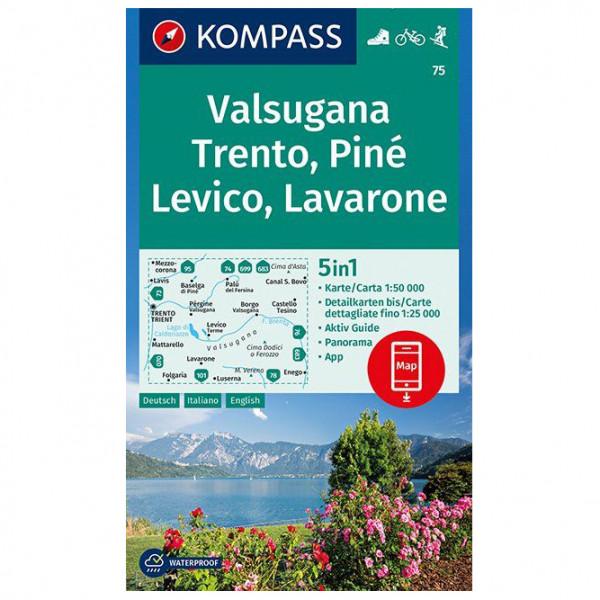Kompass - Valsugana, Trento, Piné, Levico, Lavarone - Wandelkaarten