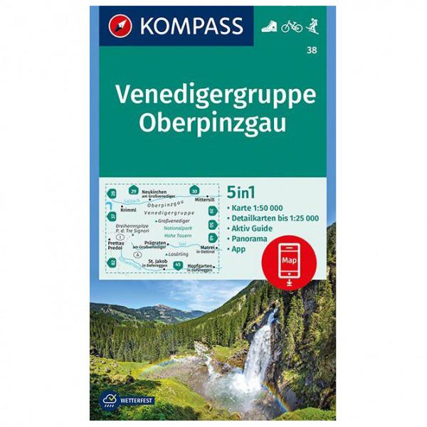 Kompass - Venedigergruppe; Oberpinzgau - Vandrekort