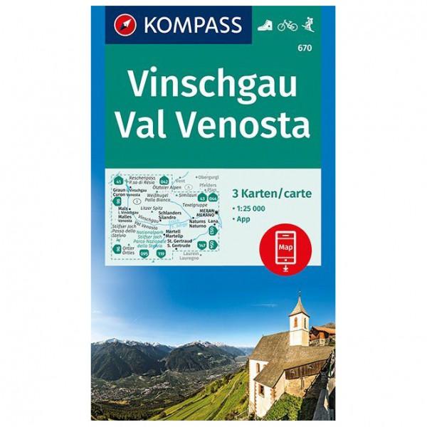 Kompass - Vinschgau, Val Venosta - Vandringskartor