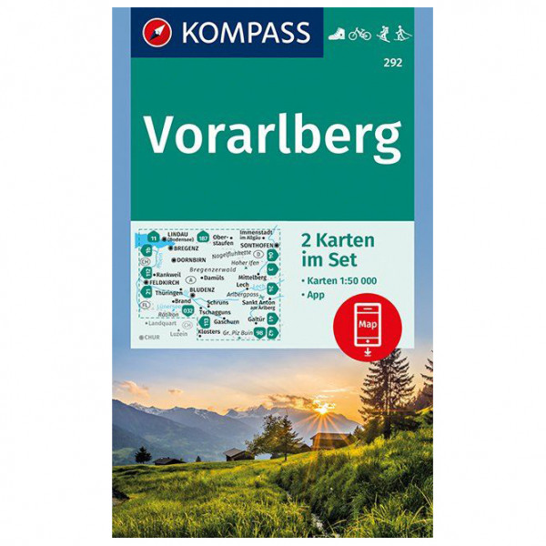 Kompass - Vorarlberg - Mapa de senderos