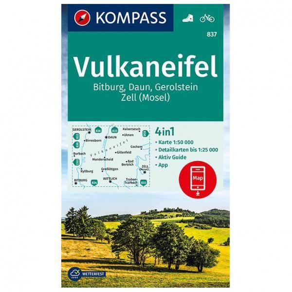 Kompass - Vulkaneifel, Bitburg, Daun, Gerolstein - Wanderkarte