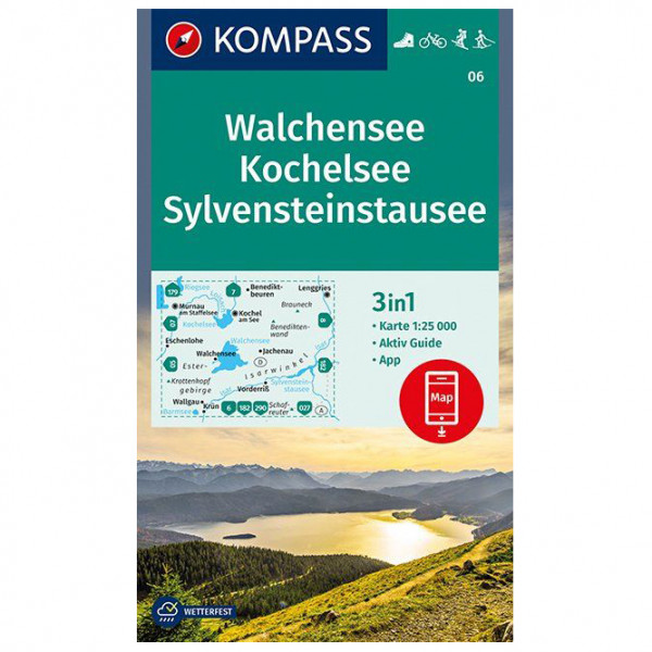 Kompass - Walchensee, Kochelsee, Sylvensteinstausee - Turkart
