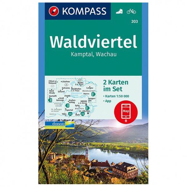 Kompass - Waldviertel, Kamptal, Wachau - Wandelkaarten