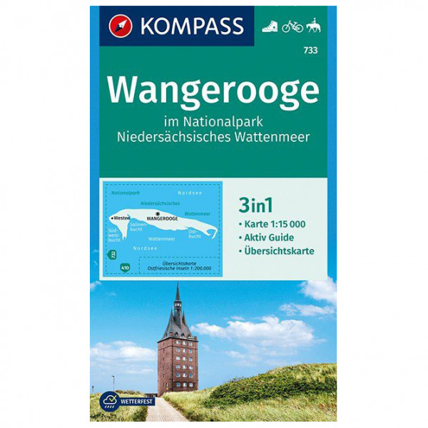 Kompass - Wangerooge im Nationalpark - Vandringskartor