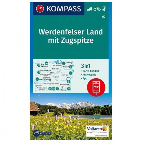 Kompass - Werdenfelser Land mit Zugspitze - Vandrekort