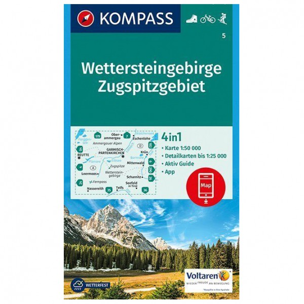 Kompass - Wettersteingebirge, Zugspitzgebiet - Hiking map