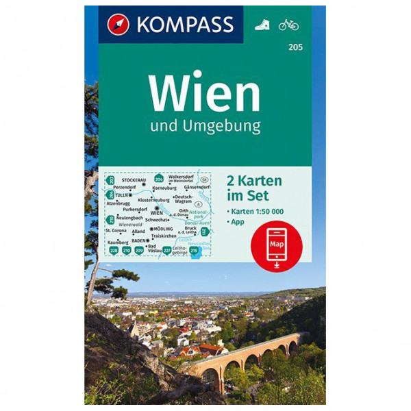 Kompass - Wien und Umgebung - Mapa de senderos