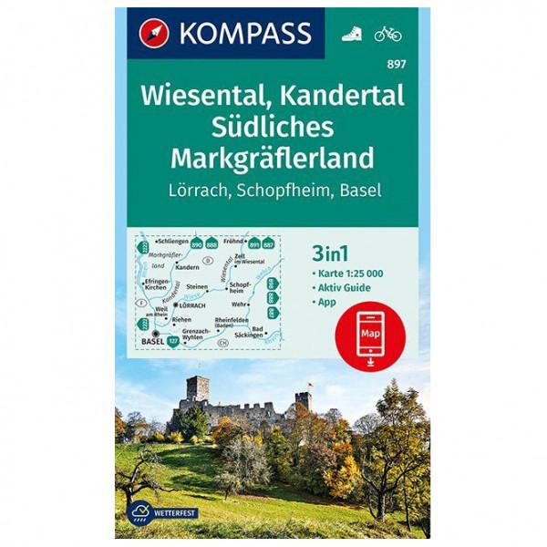 Kompass - Wiesental, Kandertal, Südliches Markgräflerland - Vandringskartor