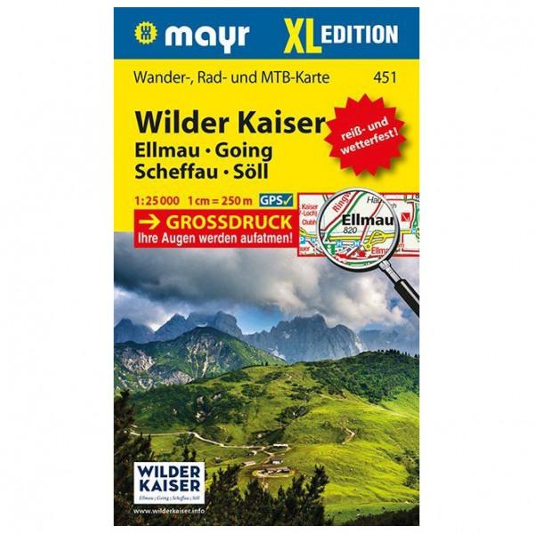 Kompass - Wilder Kaiser - Ellmau - Going - Scheffau - Wanderkarte