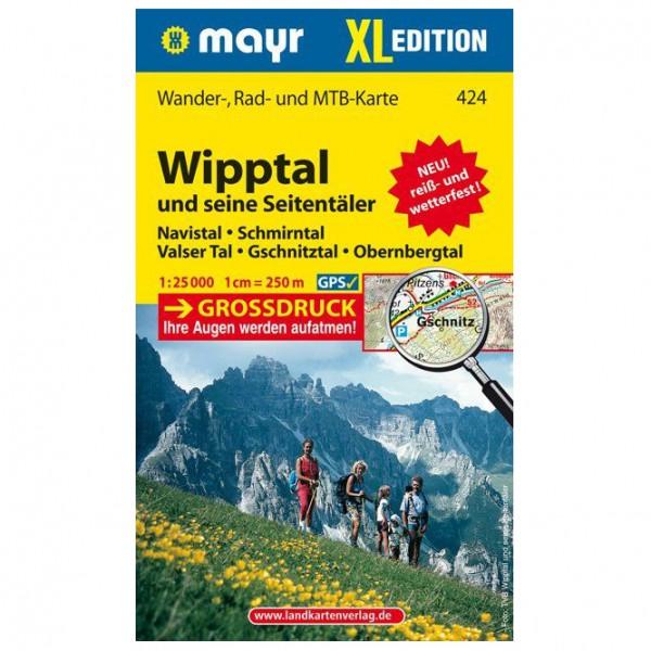 Kompass - Wipptal und seine Seitentäler XL - Vandrekort