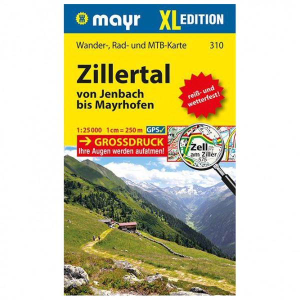 Kompass - Zillertal XL - Von Jenbach bis Mayrhofen - Vandrekort