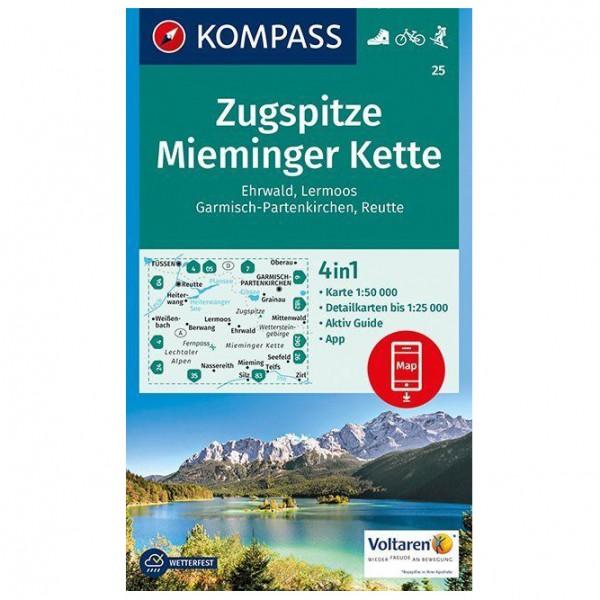 Kompass - Zugspitze, Mieminger Kette, Ehrwald, Lermoos - Vandrekort