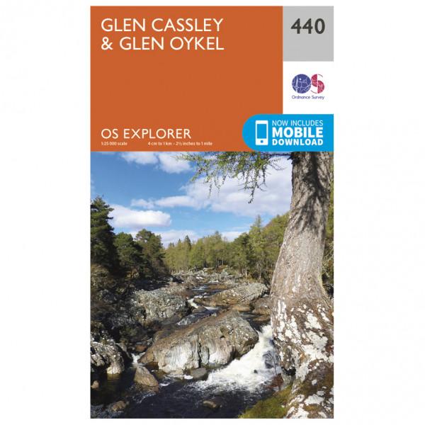 Ordnance Survey - Glen Cassley / Glen Oykel - Hiking map