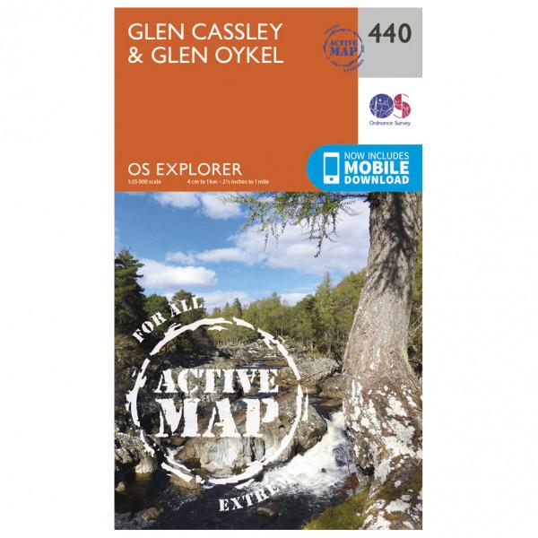 Ordnance Survey - Glen Cassley / Glen Oykel Waterproof EXPL440 - Wanderkarte