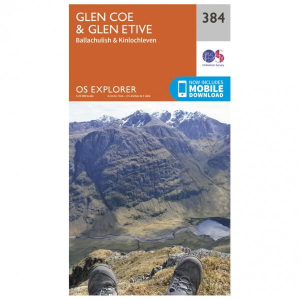 Ordnance Survey - Glen Coe / Glen Etive - Wandelkaarten