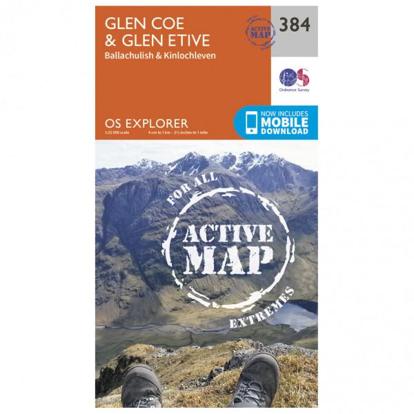 Ordnance Survey - Glen Coe / Glen Etive Waterproof - Vandrekort