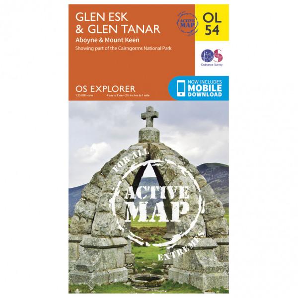 Ordnance Survey - Glen Esk & Glen Tanar / Aboyne Waterproof - Hiking map