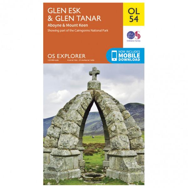 Ordnance Survey - Glen Esk / Glen Tanar / Aboyne Outdoor - Vandringskartor