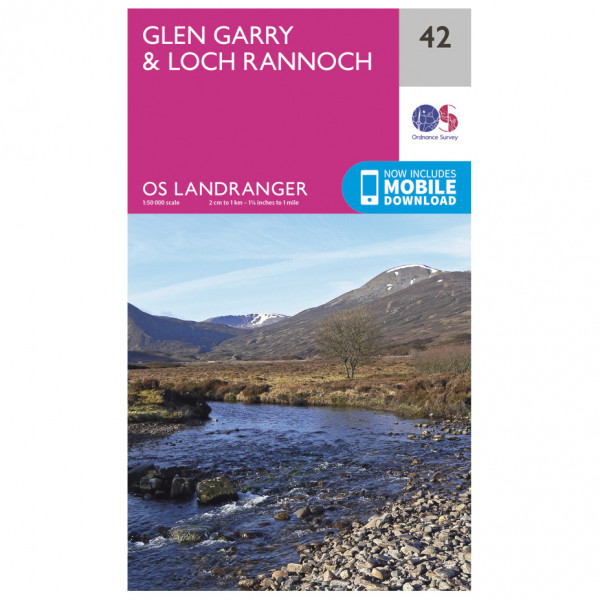Ordnance Survey - Glen Garry / Loch Rannoch - Hiking map