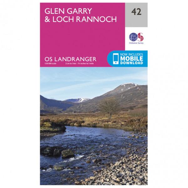 Ordnance Survey - Glen Garry / Loch Rannoch - Wanderkarte