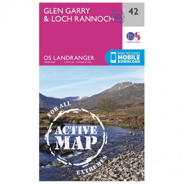 Ordnance Survey - Glen Garry / Loch Rannoch Waterproof - Vaelluskartat