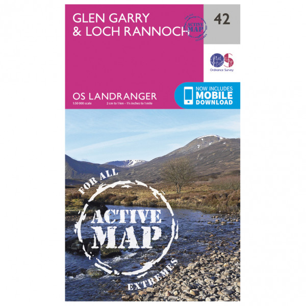 Ordnance Survey - Glen Garry / Loch Rannoch Waterproof - Vandringskartor