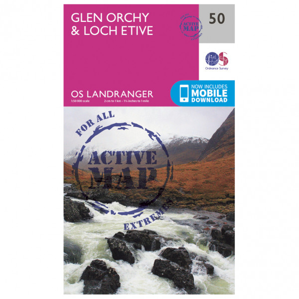 Ordnance Survey - Glen Orchy & Loch Etive Waterproof - Vandrekort