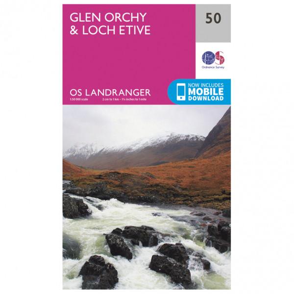 Ordnance Survey - Glen Orchy / Loch Etive - Mapa de senderos