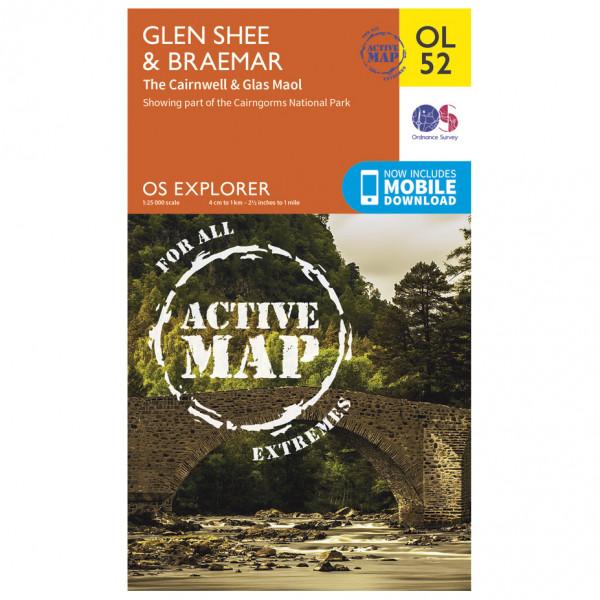 Ordnance Survey - Glen Shee / Braemar / Cairnwell Waterproof - Vandringskartor