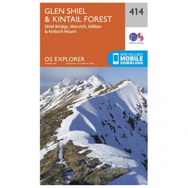 Ordnance Survey - Glen Shiel / Kintail Forest - Vandringskartor