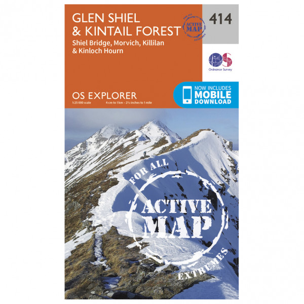 Ordnance Survey - Glen Shiel / Kintail Forest Waterproof - Hiking map